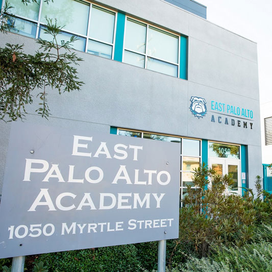 FaÇade of East Palo Alto Academy building